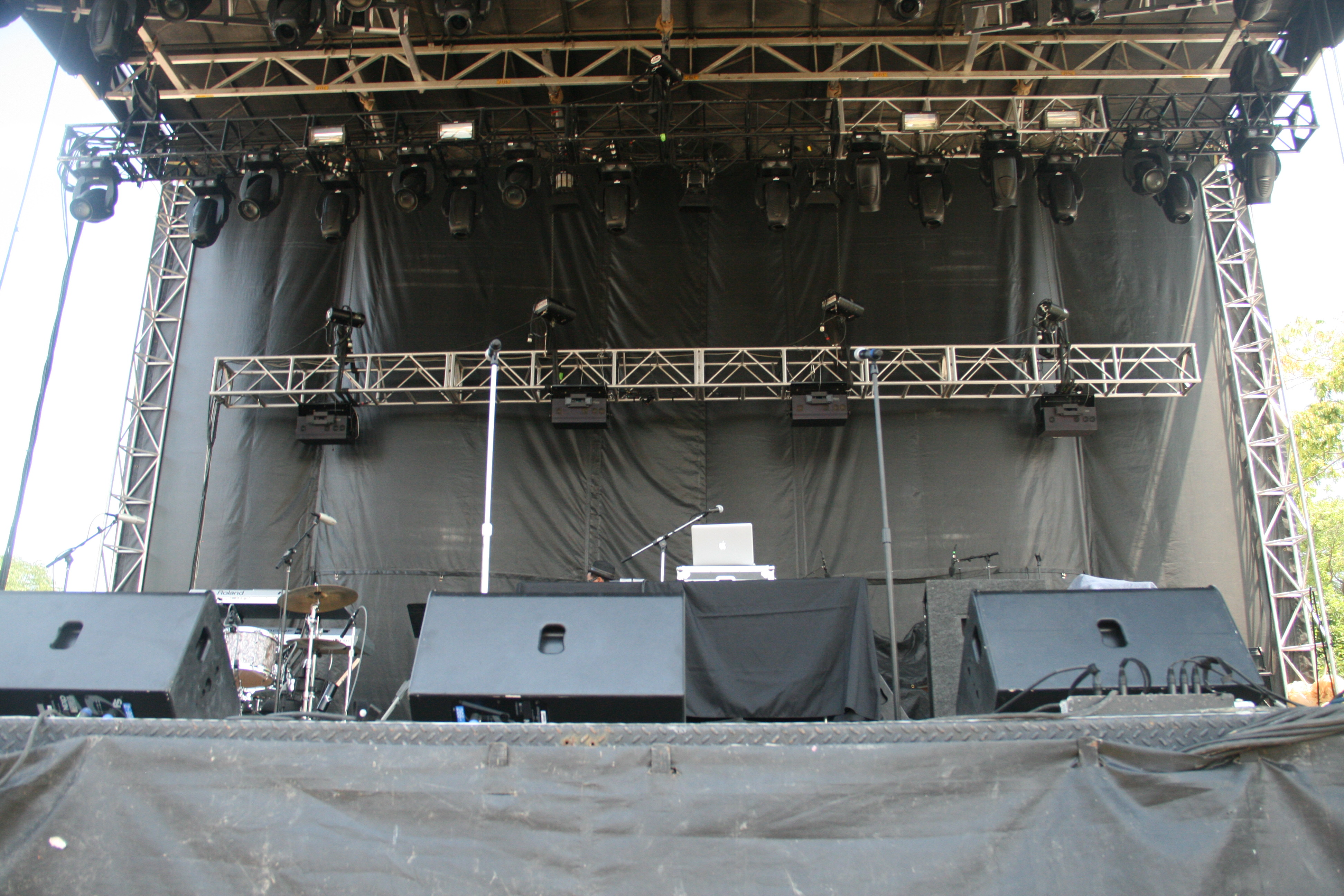 Empty outdoor rock stage - Userpostedimage