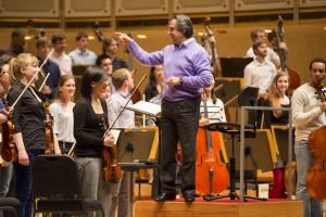 Riccardo Muti rehearsing Civic Orchestra, April 2013, Photo: Todd Rosenberg