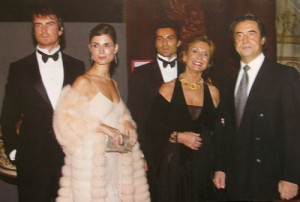 Riccardo Muti (far right) with his wife Christina at his side and their children Domenico, actress Chiara Muti and Francesco.