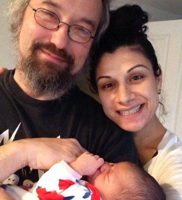 Carlos and Raffaela Kalmar with newborn son Luca Pedro/Photo courtesy of Carlos Kalmar