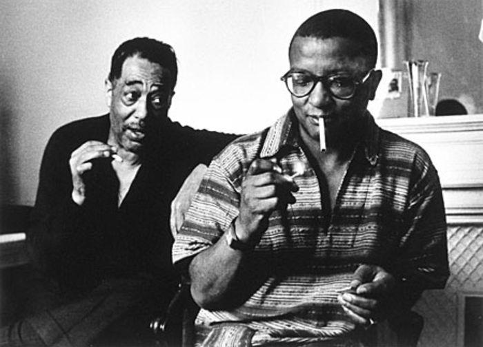 Duke Ellington (left) and Billy Strayhorn