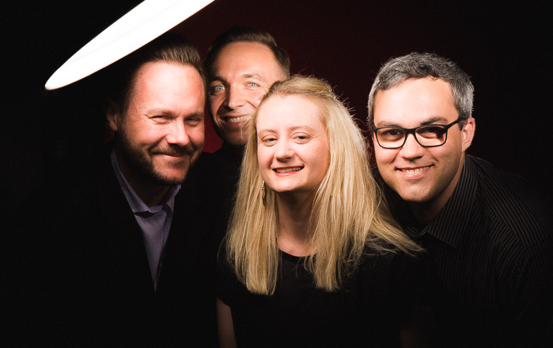 Spektral Quartet: Doyle Armbrust, Austin Wulliman, Clara Lyon, Russell Rolon/ Photo: Joe Mazza/Brave Lux